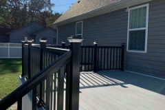 Composite Deck + Black Rails