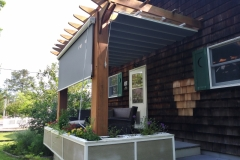 Pergola Canopy with Side Curtain